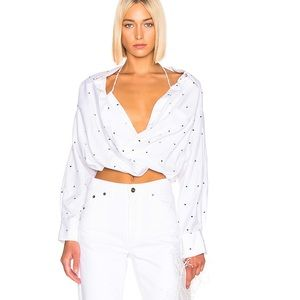 Like new Jacquemus dot blouse in white size34